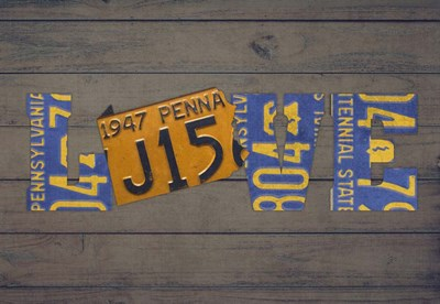 PA State Love Poster by Design Turnpike for $45.00 CAD