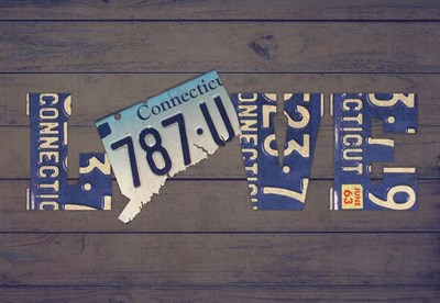 CT State Love Poster by Design Turnpike for $45.00 CAD