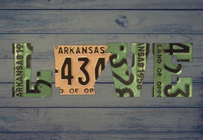 AR State Love 2 Poster by Design Turnpike for $45.00 CAD