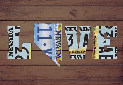 NV State Love Poster by Design Turnpike for $45.00 CAD