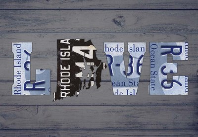 RI State Love Poster by Design Turnpike for $45.00 CAD