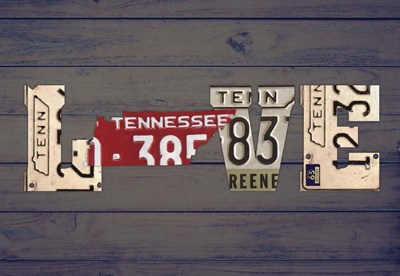 TN State Love Poster by Design Turnpike for $45.00 CAD