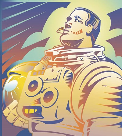 Astronaut Poster by David Chestnutt for $52.50 CAD