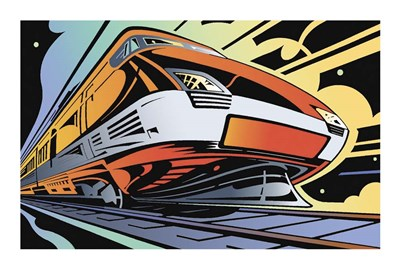 Train-High Speed Poster by David Chestnutt for $50.00 CAD