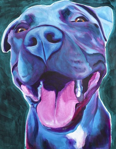 Pit Bull - Sky Blue Poster by DawgArt for $40.00 CAD