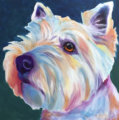 Westie - Chispy 3 Poster by DawgArt for $41.25 CAD