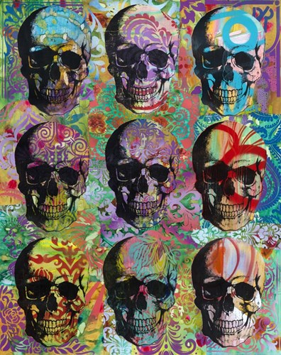 9 Skulls Poster by Dean Russo- Exclusive for $56.25 CAD