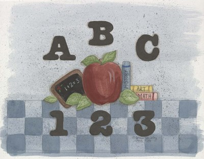 ABC, 123 Poster by Debbie McMaster for $68.75 CAD