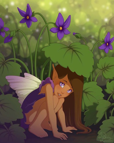 Shy Violet Poster by Dalliann for $56.25 CAD