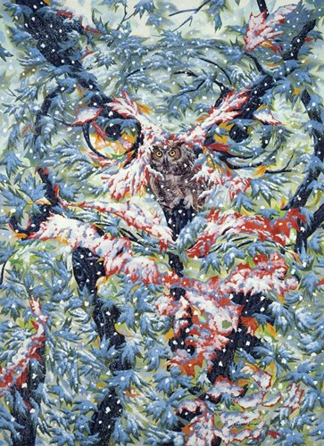 Horned-Owl Poster by D. Rusty Rust for $42.50 CAD