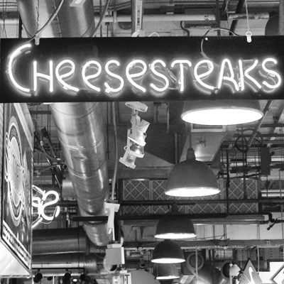 Cheesesteaks  (b/w) Poster by Erin Clark for $63.75 CAD