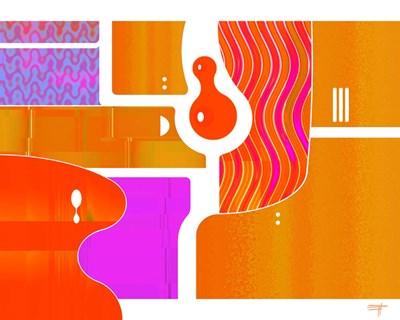 Retro Nouveau Background XLIII Poster by Fernando Palma for $42.50 CAD