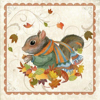 Fall Squirrel Poster by Fiona Stokes-Gilbert for $35.00 CAD