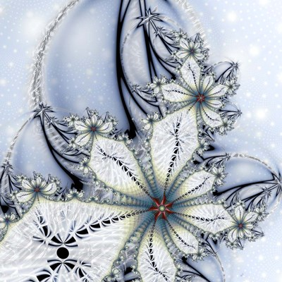 Winter Wonder Poster by Fractalicious for $80.00 CAD