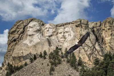 Mount Rushmore And Eagle Poster by Galloimages Online for $43.75 CAD