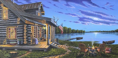 Lakeside Retreat Poster by Geno Peoples for $52.50 CAD