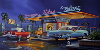 Summer Nites Poster by Geno Peoples for $52.50 CAD
