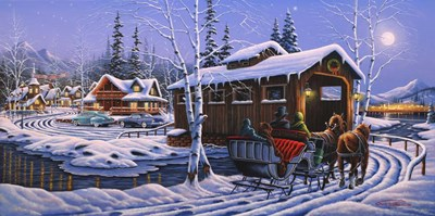 Romantic Christmas Poster by Geno Peoples for $52.50 CAD