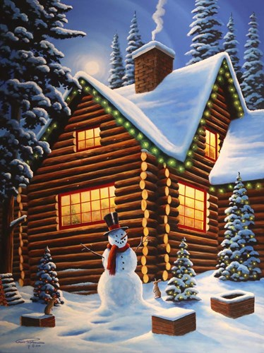 Cozy Christmas Poster by Geno Peoples for $41.25 CAD