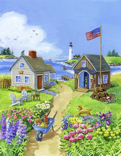 Boathouse Cove Poster by Geraldine Aikman for $66.25 CAD