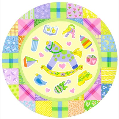 Baby Theme Round Poster by Geraldine Aikman for $80.00 CAD