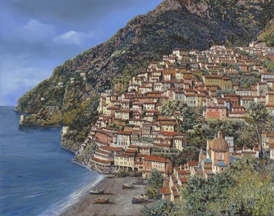 Positano E Torre Clavel Poster by Guido Borelli for $55.00 CAD