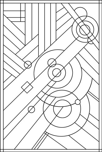 Pop Art Deco Panel 1 Lineart Poster by Howie Green for $72.50 CAD