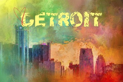 Sending Love To Detroit Poster by Jai Johnson for $43.75 CAD