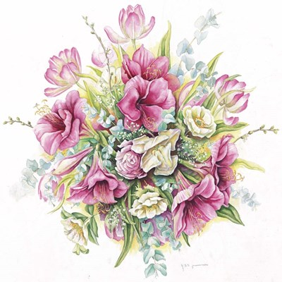 January Bouquet Poster by Janneke Brinkman-Salentijn for $35.00 CAD