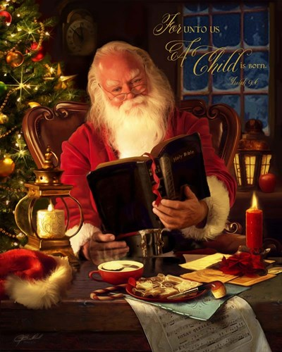 Santa Poster by Jason Bullard for $40.00 CAD