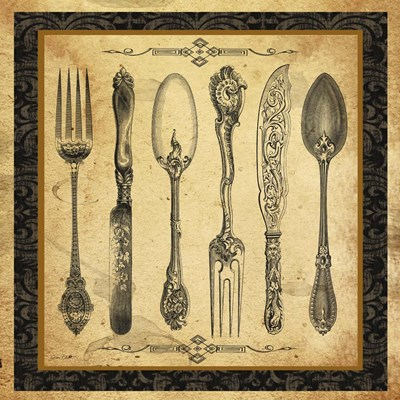 Adriana Silverware Vignette II Poster by Jean Plout for $48.75 CAD