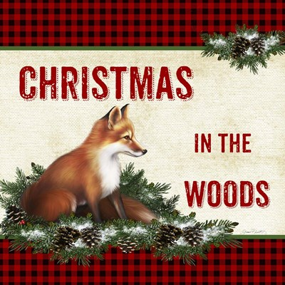 Christmas in the Woods - Fox Poster by Jean Plout for $41.25 CAD