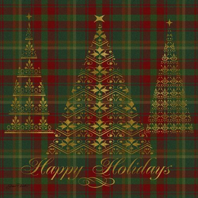 Happy Holidays Plaid - gold Poster by Jean Plout for $41.25 CAD