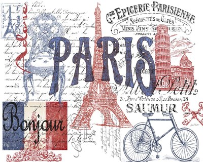 Paris Tray 1 Poster by Jean Plout for $56.25 CAD