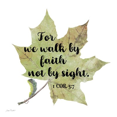 Scripture Leaf - A Poster by Jean Plout for $48.75 CAD