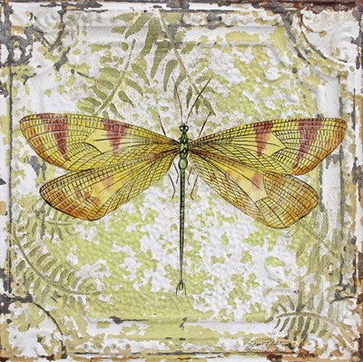 Dragonfly On Tin Tile Poster by Jean Plout for $41.25 CAD