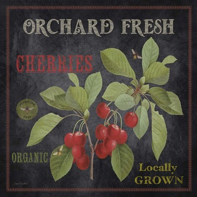 Orchard Fresh Cherries Poster by Jean Plout for $35.00 CAD