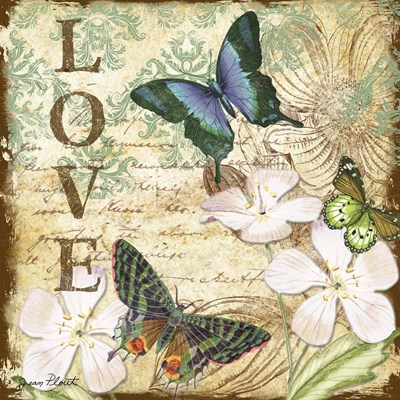 Inspirational Butterflies - Love Poster by Jean Plout for $35.00 CAD