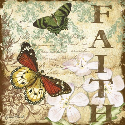 Inspirational Butterflies - Faith Poster by Jean Plout for $35.00 CAD