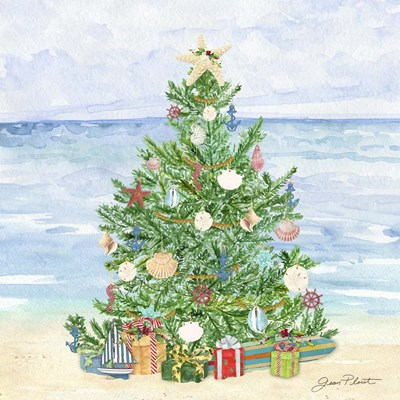 Coastal Christmas B Poster by Jean Plout for $48.75 CAD