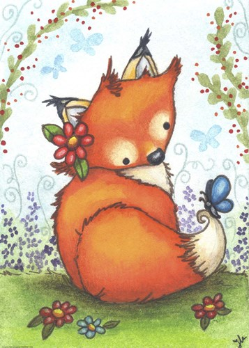 Little Fox in the Garden Poster by Jennifer Nilsson for $33.75 CAD