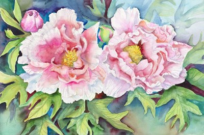 A Pair of Peonies Poster by Joanne Porter for $43.75 CAD