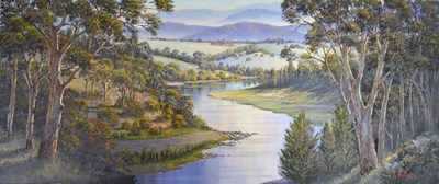 Morning Light Macleay Valley Poster by John Bradley for $47.50 CAD