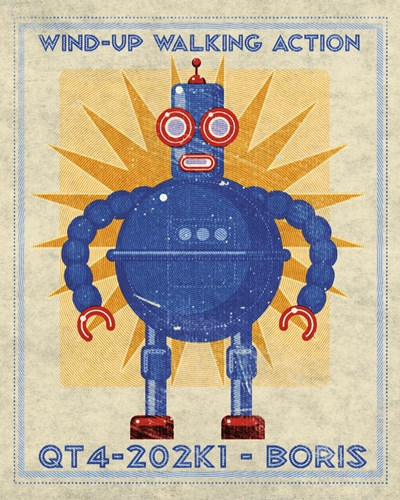 Boris Box Art Robot Poster by John W. Golden for $31.25 CAD