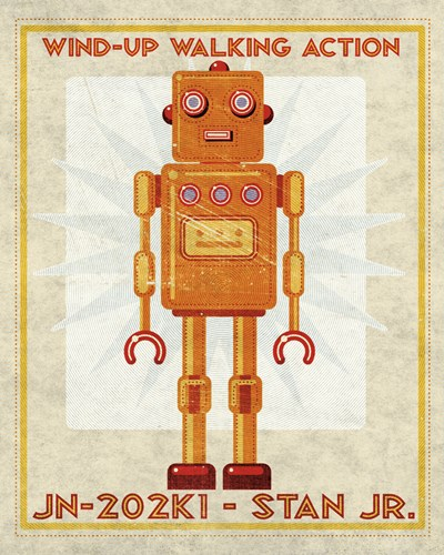 Stan Jr. Box Art Robot Poster by John W. Golden for $31.25 CAD