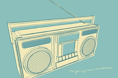 Lunastrella Boombox Poster by John W. Golden for $43.75 CAD