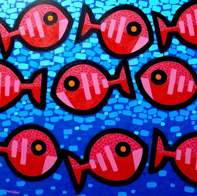 9 Happy Fish Poster by John Nolan for $27.50 CAD