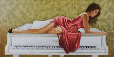 On the Piano Poster by John Silver for $42.50 CAD