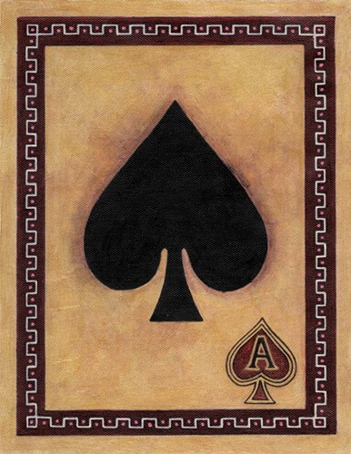 Ace Of Spades Poster by John Zaccheo for $57.50 CAD
