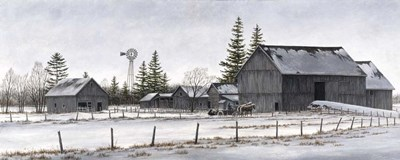 Amish Winter Poster by John Morrow for $46.25 CAD